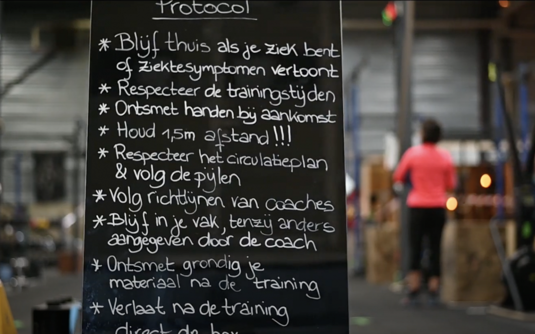 Hoe ziet een CrossFit les eruit in het corona tijdperk?